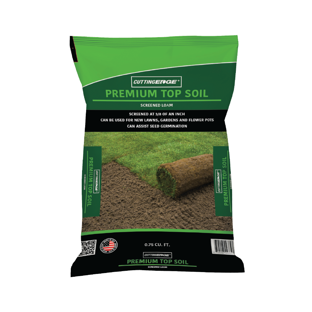 Screened topsoil and compost organic mulch landscape for Organic top soil